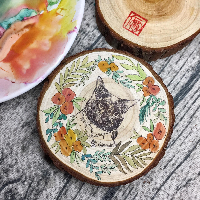 手绘木桩画-印第安包子