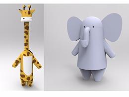 动物回家乐,动物形象设计