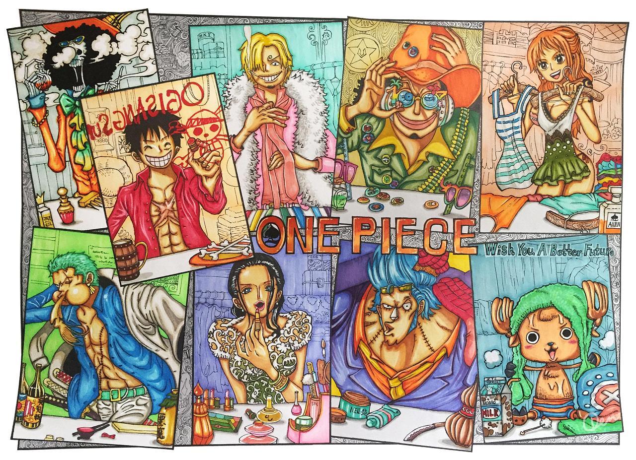海贼王彩页|变态|单幅动漫|折扇-原创作品-站漫画》《格死漫画图片