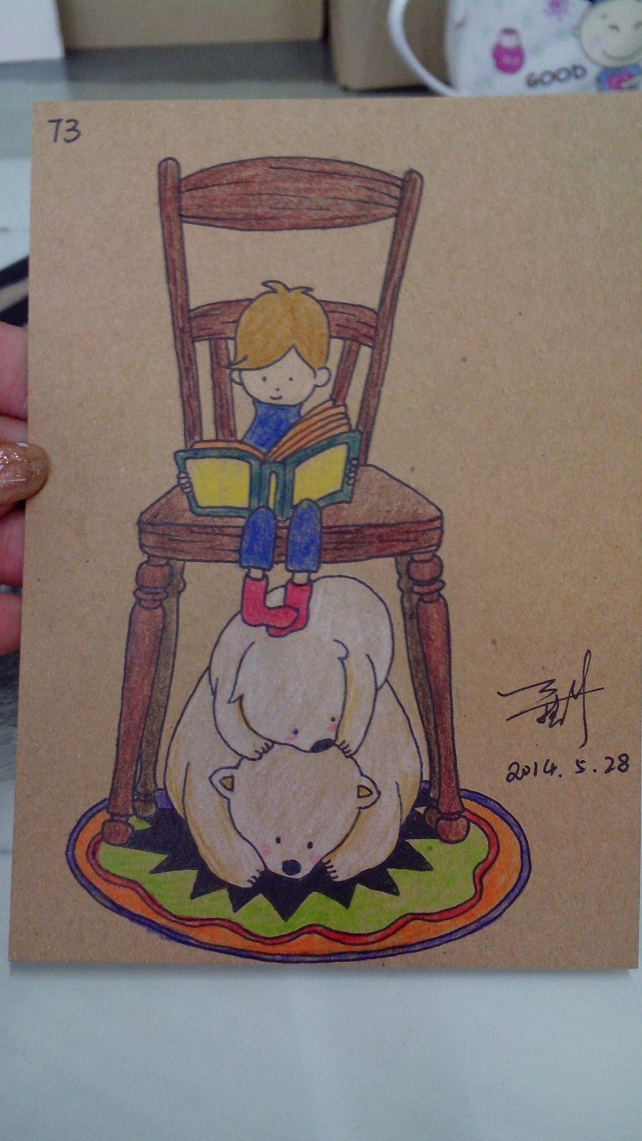 手绘明信片|儿童插画|插画|请叫我艾晓婷