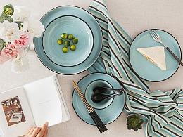 生活中最爱的一片蓝-陶瓷餐具