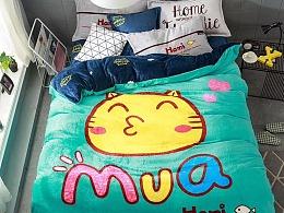 哈咪猫床上用品花型