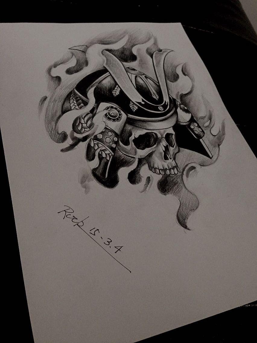 包小臂浪纹身手稿分享展示