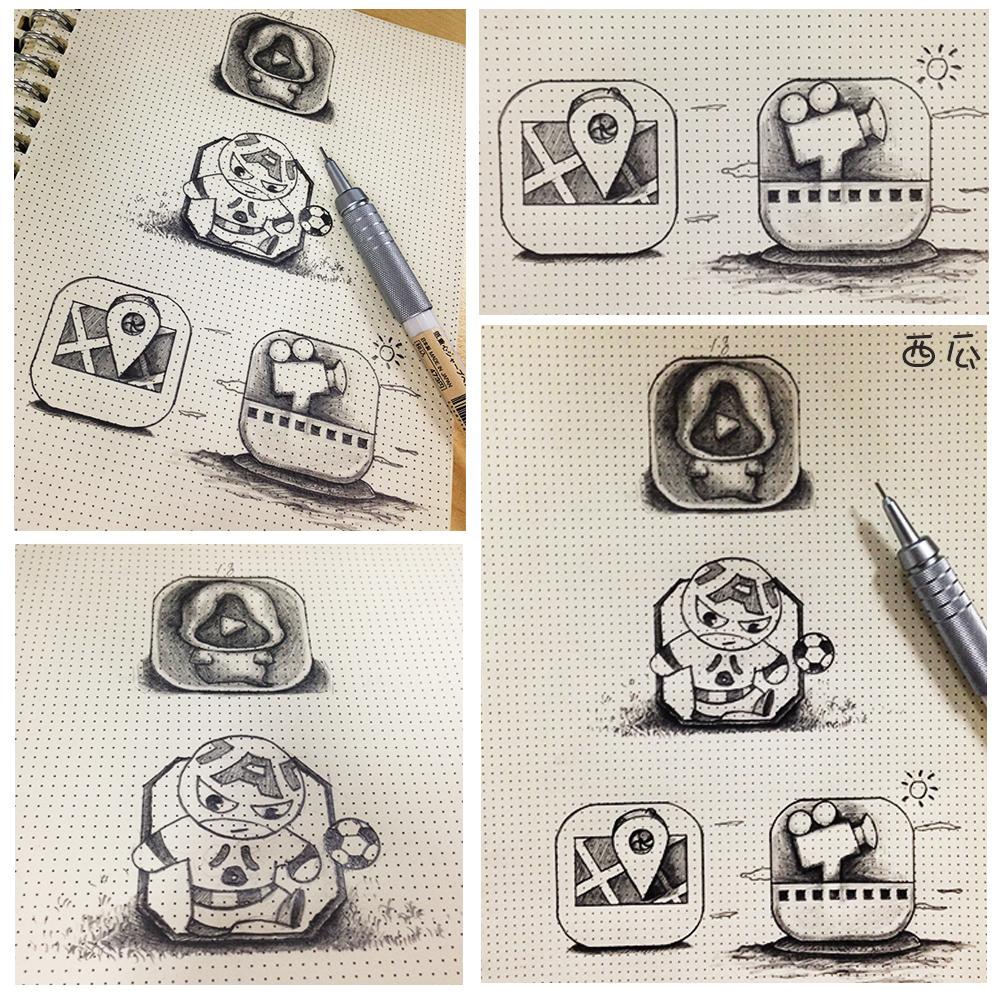 手绘---图标小练习图片