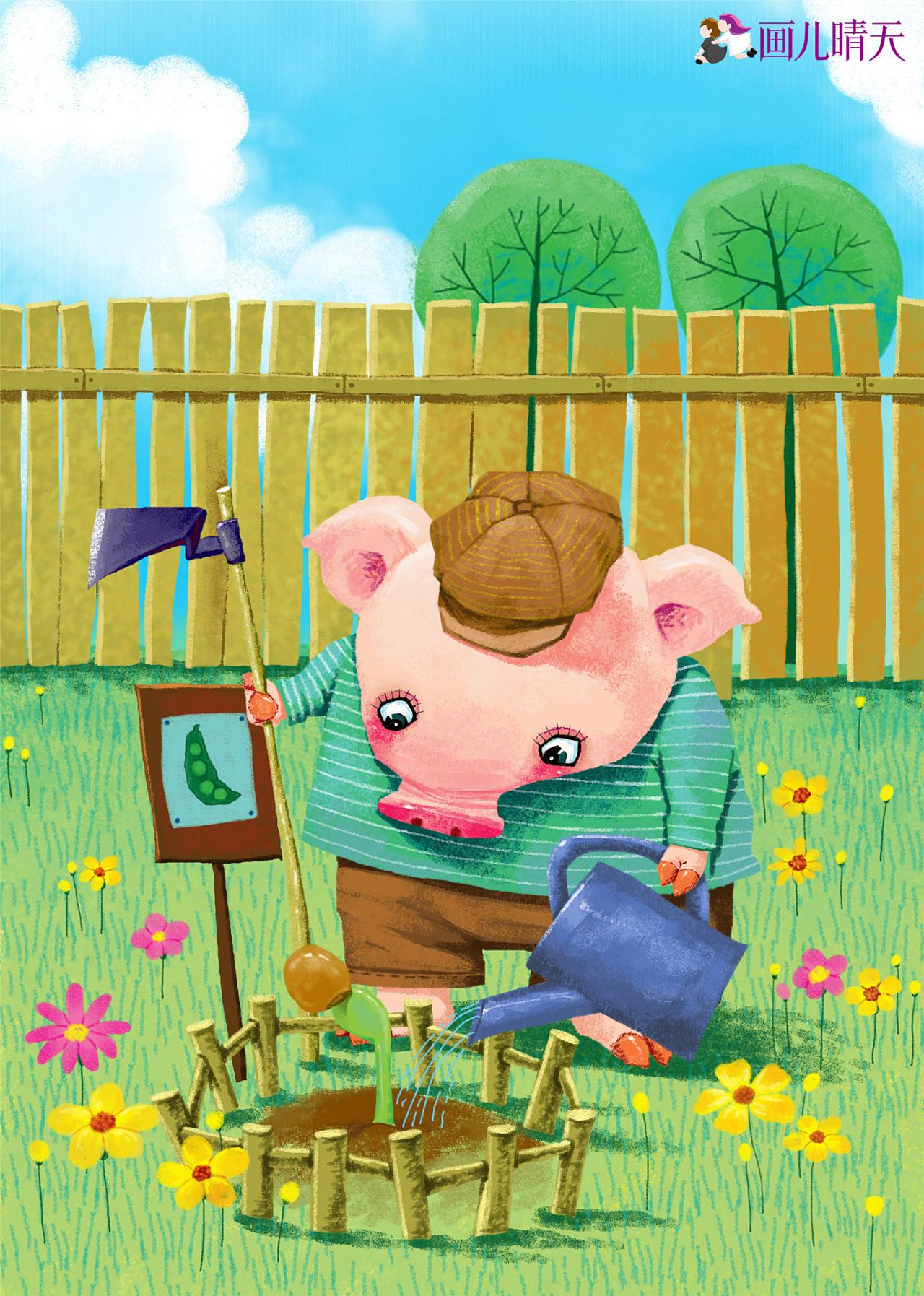 猪年插画-猪年图片元素插画20几幅图片