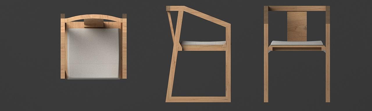 椅子三视图(无尺寸)