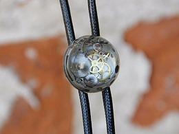 原创设计师蒸汽朋克表芯波洛领带bolo tie领绳创意礼物