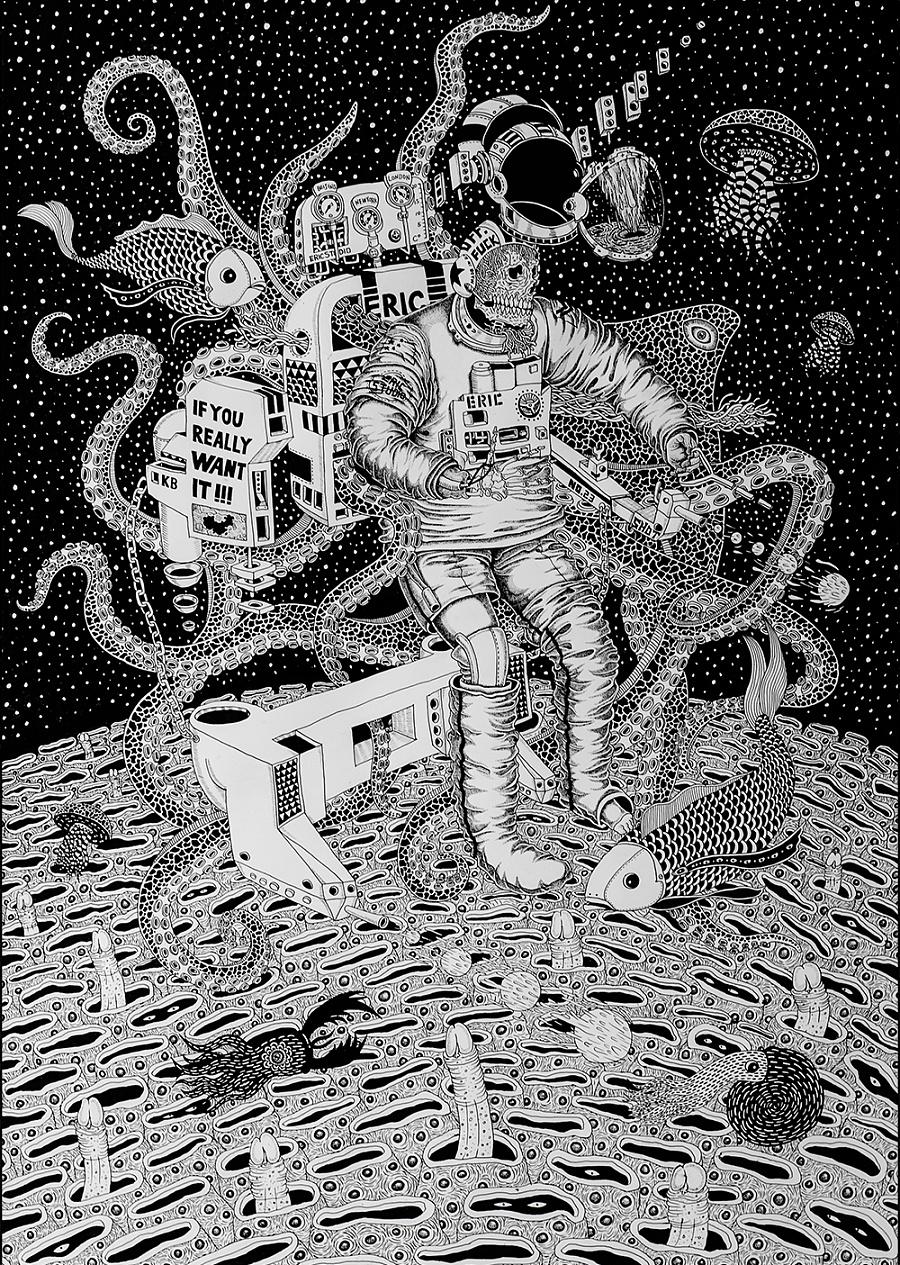 查看《《我们都会死很久》插画》原图,原图尺寸:1000x1405