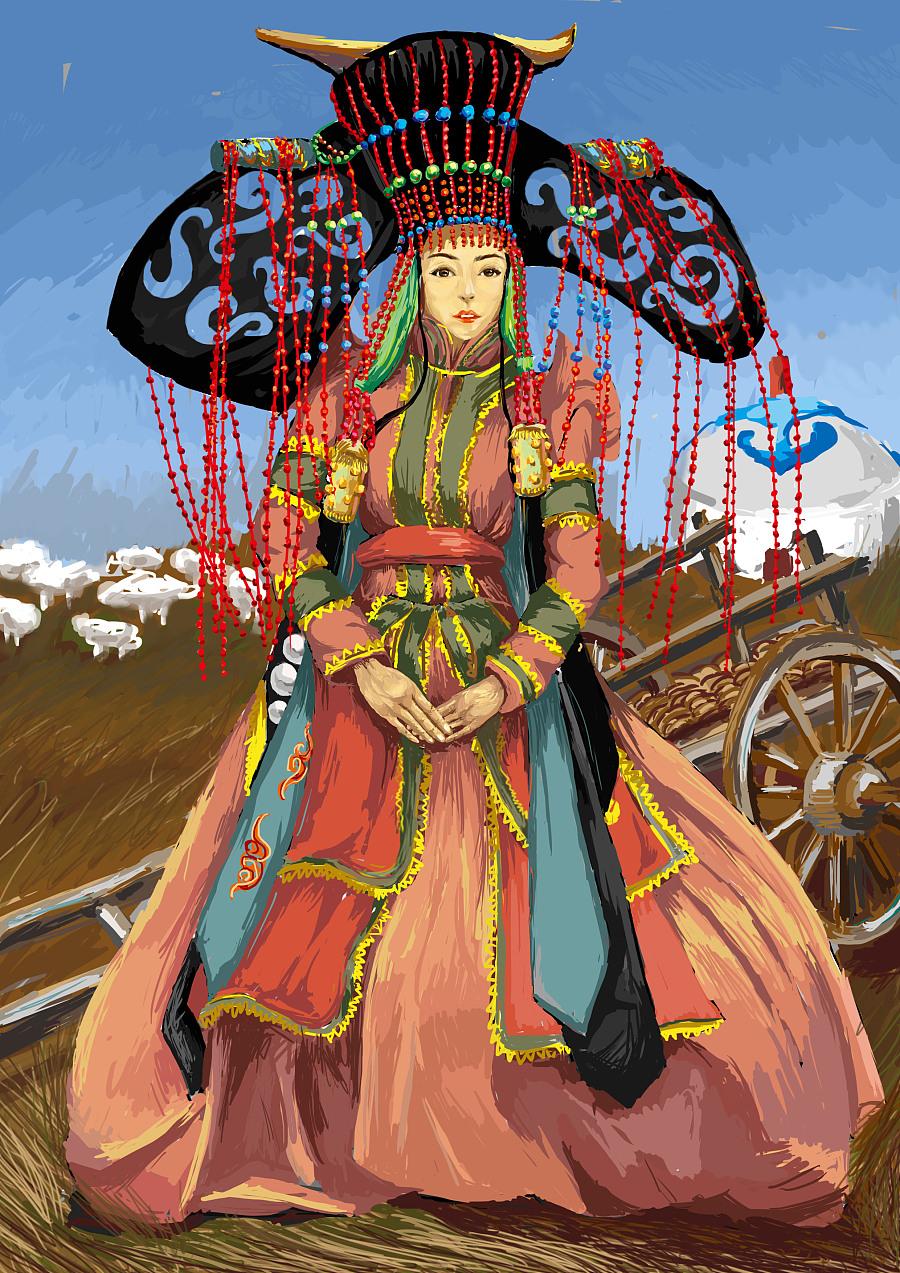 蒙古族女子