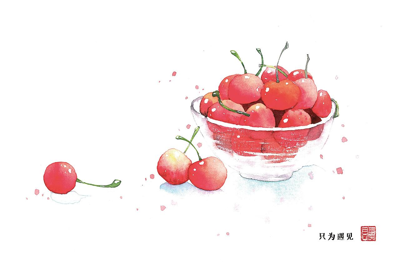水彩:樱桃樱桃