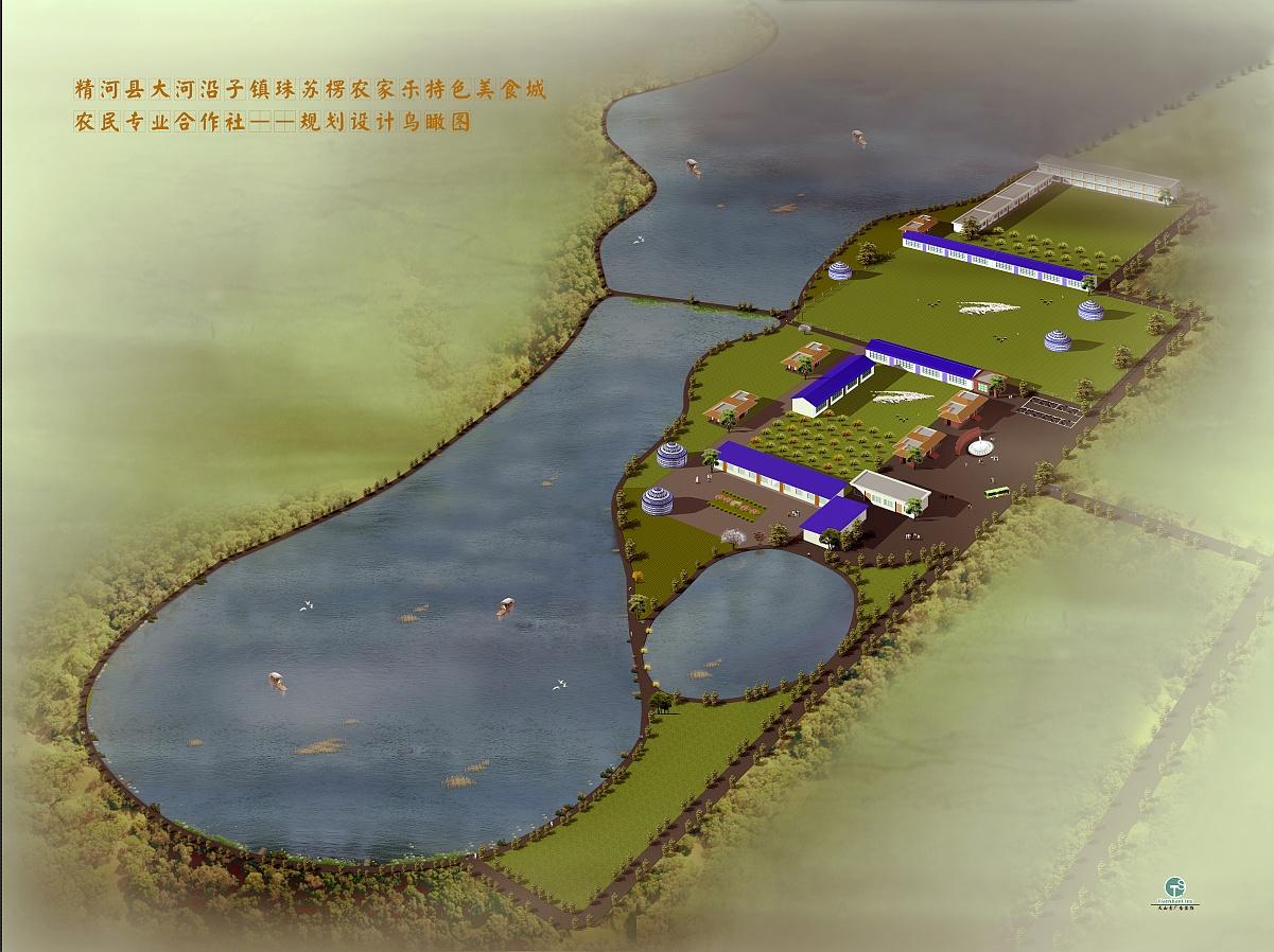 精河县鱼塘规划设计 三维 场景 yyl艺翁 - 原创作品 -图片