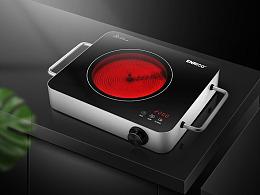 电陶炉详情页设计/电磁炉/暗色系竖屏思维/电商设计