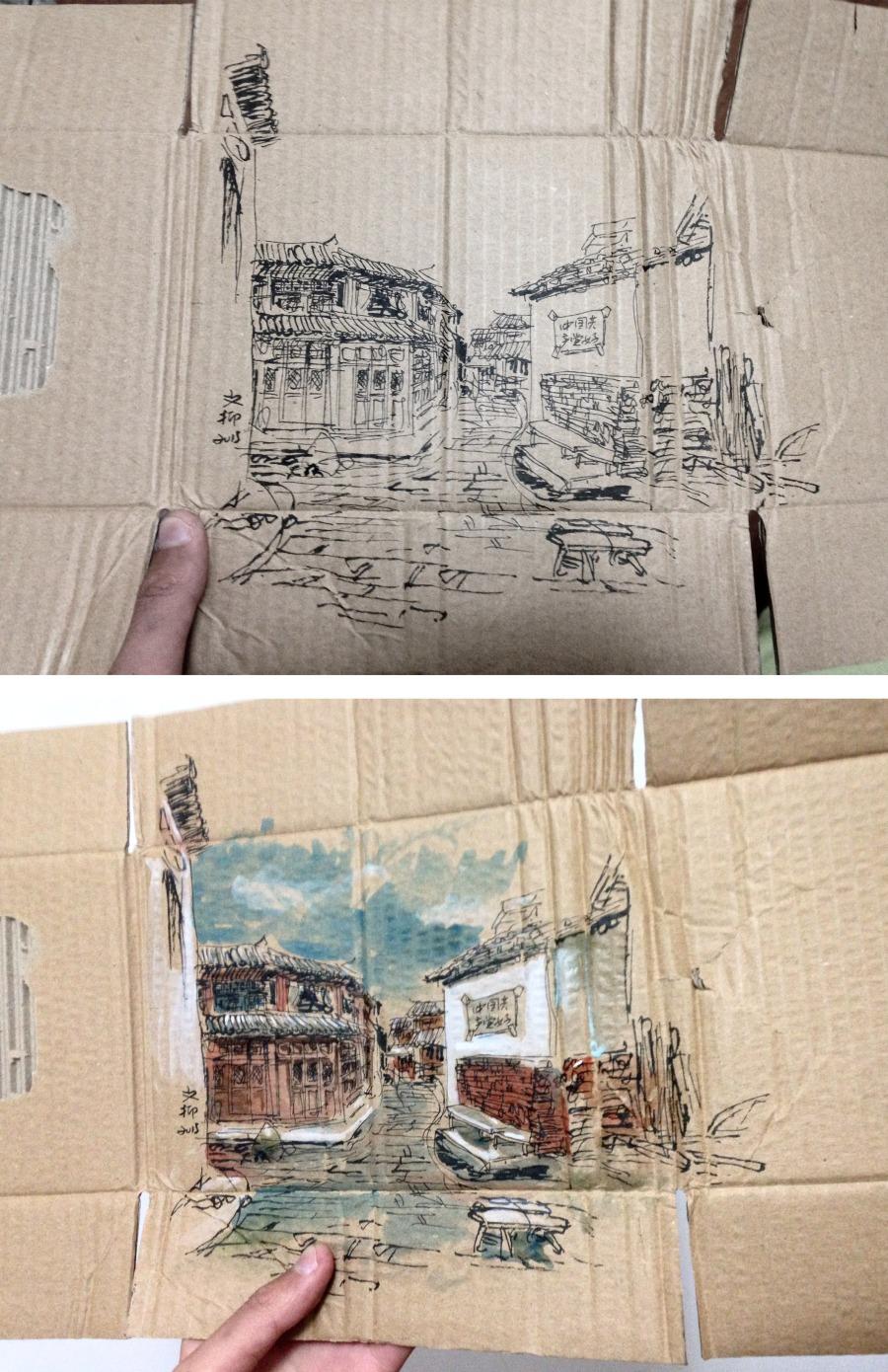 查看《捡捡垃圾,画点小画》原图,原图尺寸:2113x3264