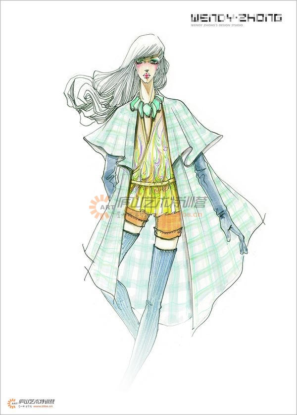 服装马克笔手绘系列——钟蔚老师|其他服装|服装