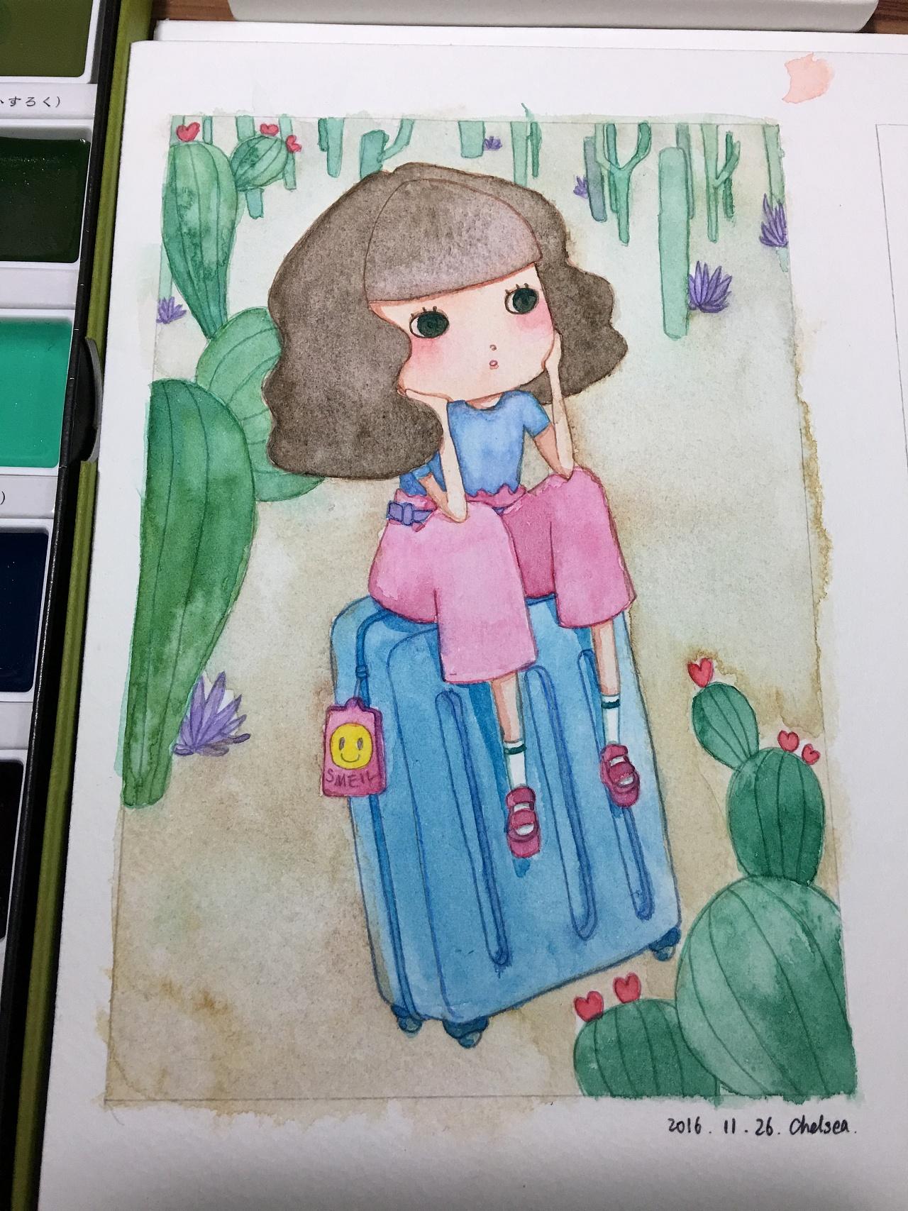 行李箱·女孩
