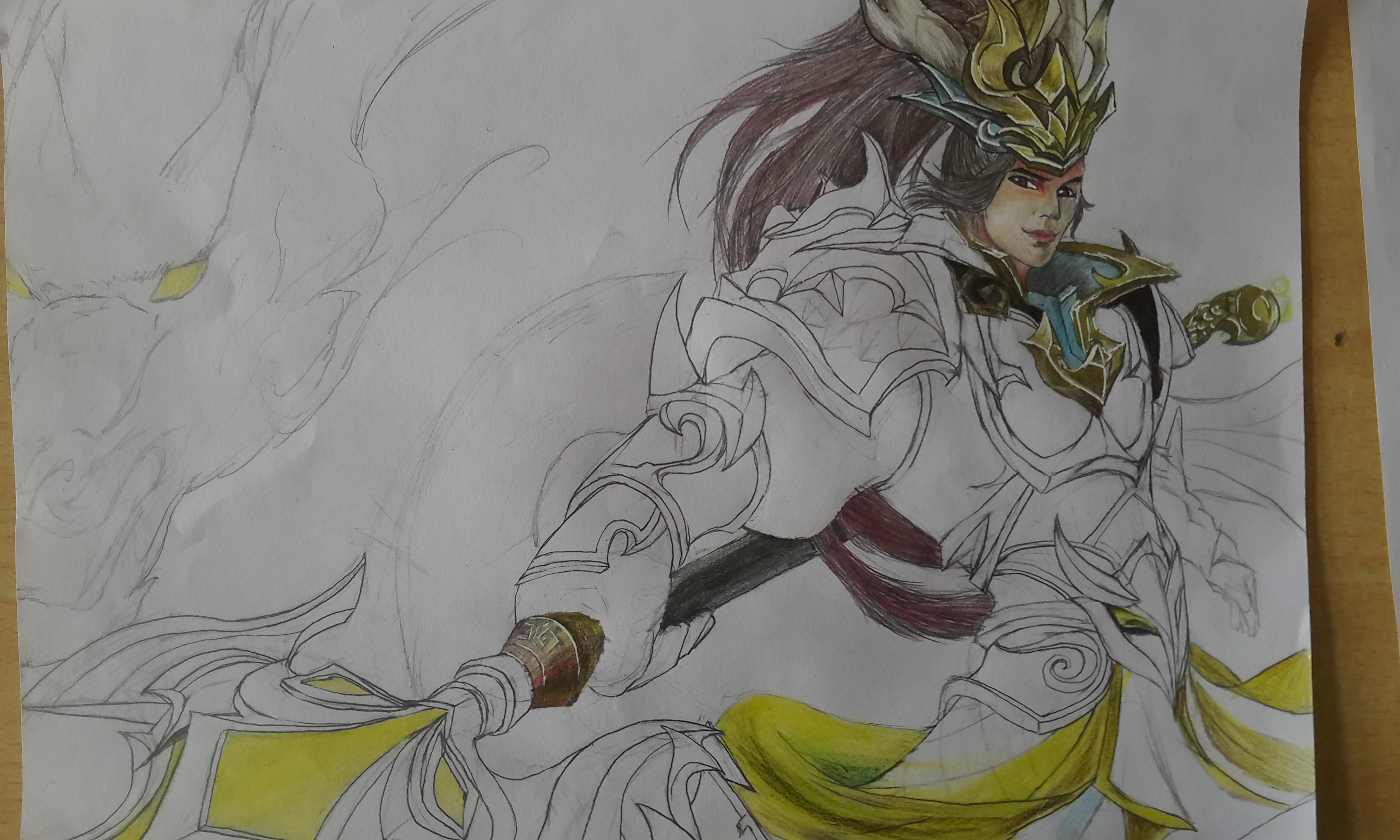 王者荣耀英雄手绘|插画|插画习作|1146698156 - 原创