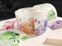 《彩虹果汁》文创手账和纸胶带+配套贴纸