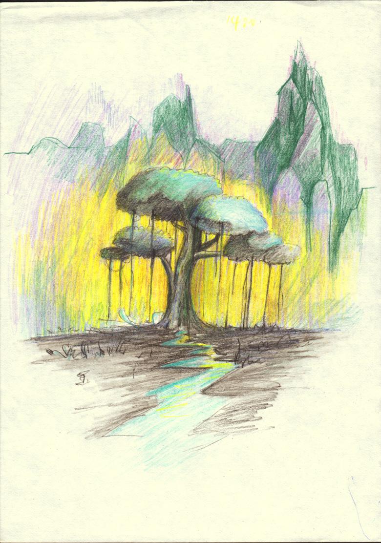 彩铅手绘|纯艺术|油画|蓝幽迩 - 原创作品 - 站酷