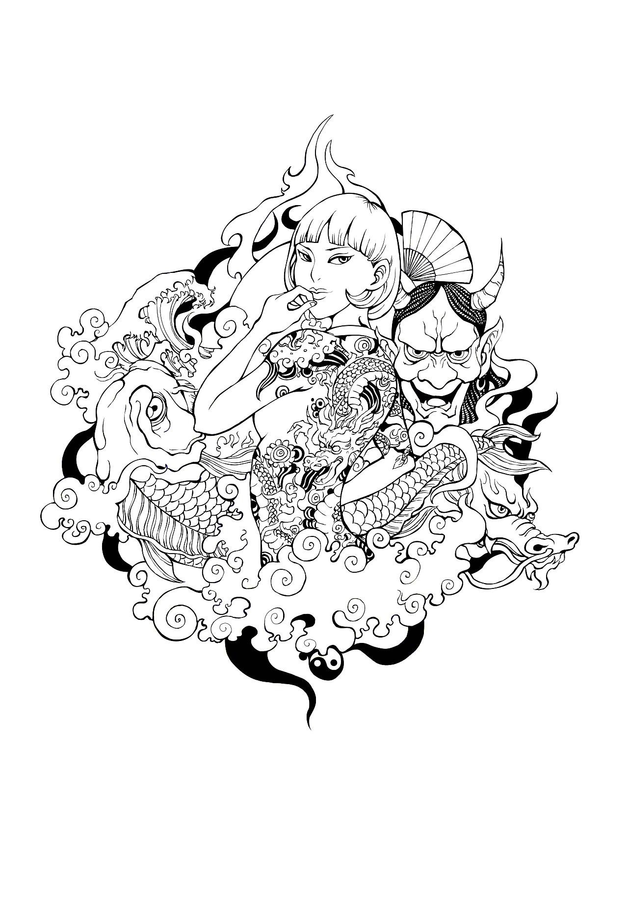 手绘作品合集|插画|插画习作|木田火山 - 原创作品