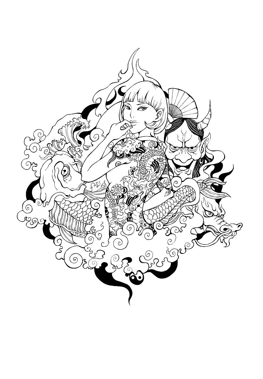 手绘作品合集|插画习作|插画|木田火山 - 原创设计