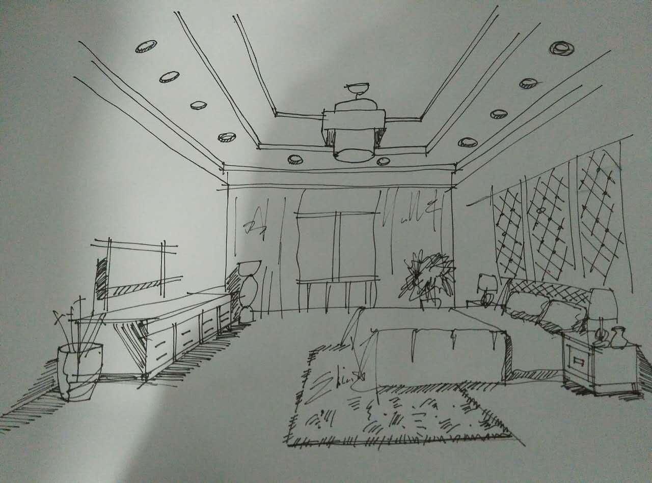手绘——室内快速表现线条篇|插画|插画习作|suixin图片