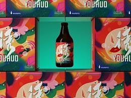 啤酒包装-废墟精酿诱惑包装设计