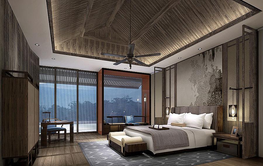 平泉中式别墅设计-《内江设计》内江恩林独池别墅图片