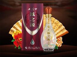 西凤酒深色复古中国风详情