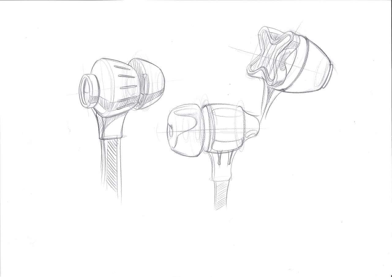 工业设计手绘之耳机|工业/产品|电子产品|四重人格米