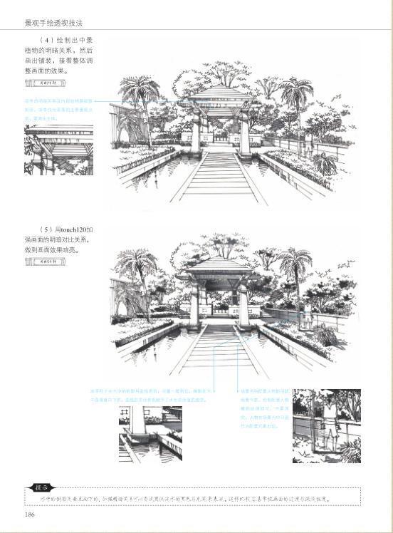 印象手绘 景观设计手绘透视技法