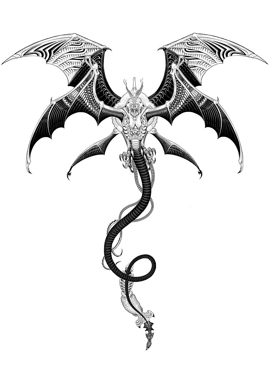 蚕怪兽手绘设计