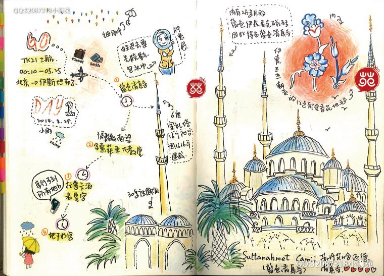 小狮苑的土耳其手绘游记(上)