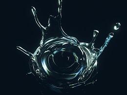 C4D+RF液体水花特效