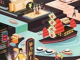 「京东 · 潮机好店街」双十一专题页设计