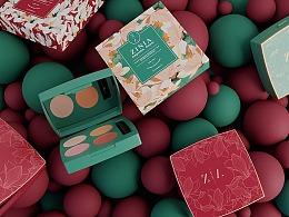 《ZINIA》化妆品牌&产品设计