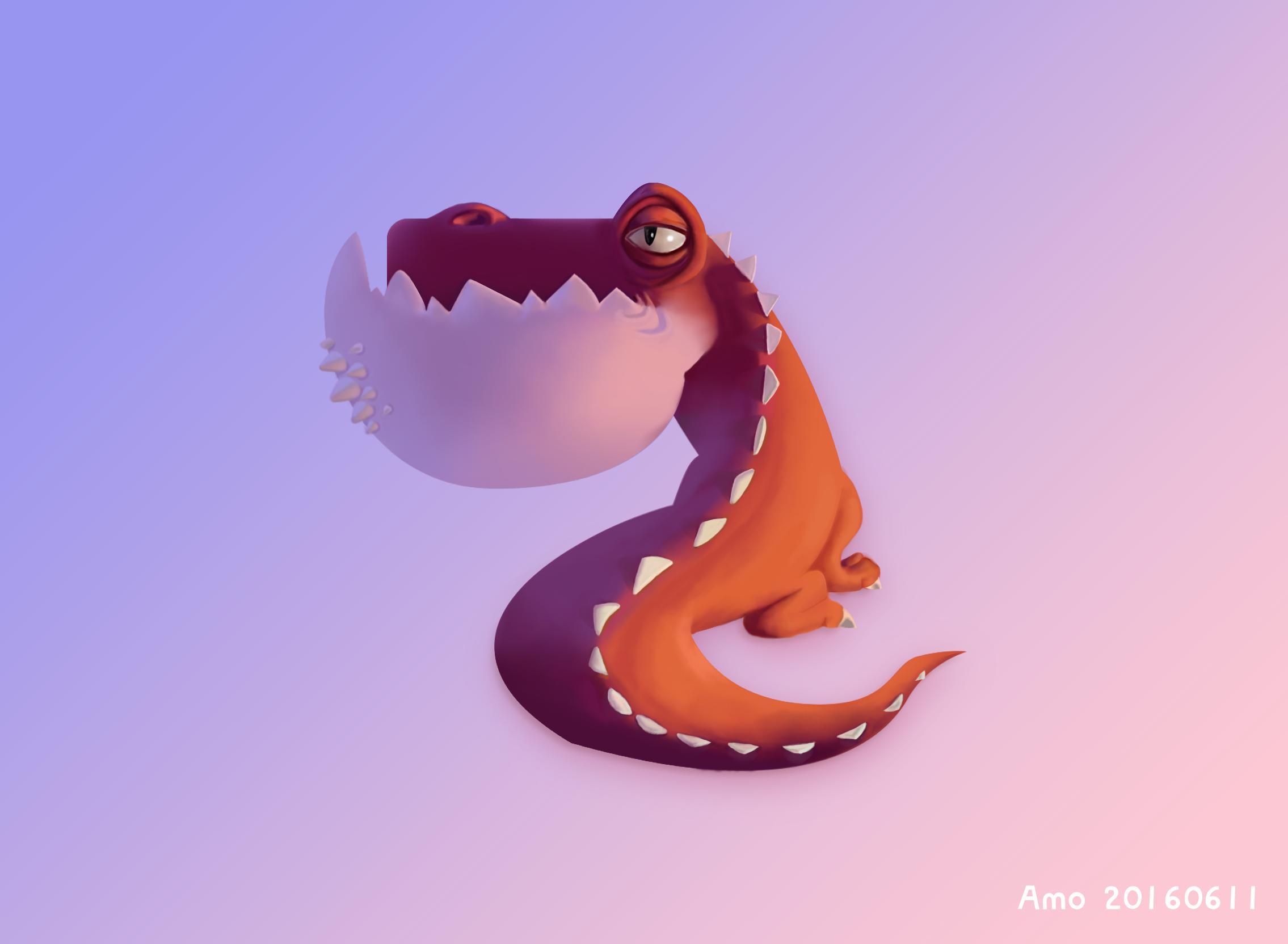 手绘-小恐龙