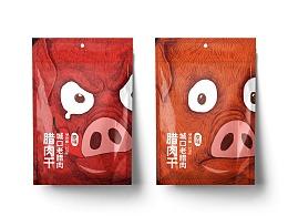 休闲猪肉干食品包装
