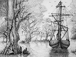 大航海系列古典硬笔画全套