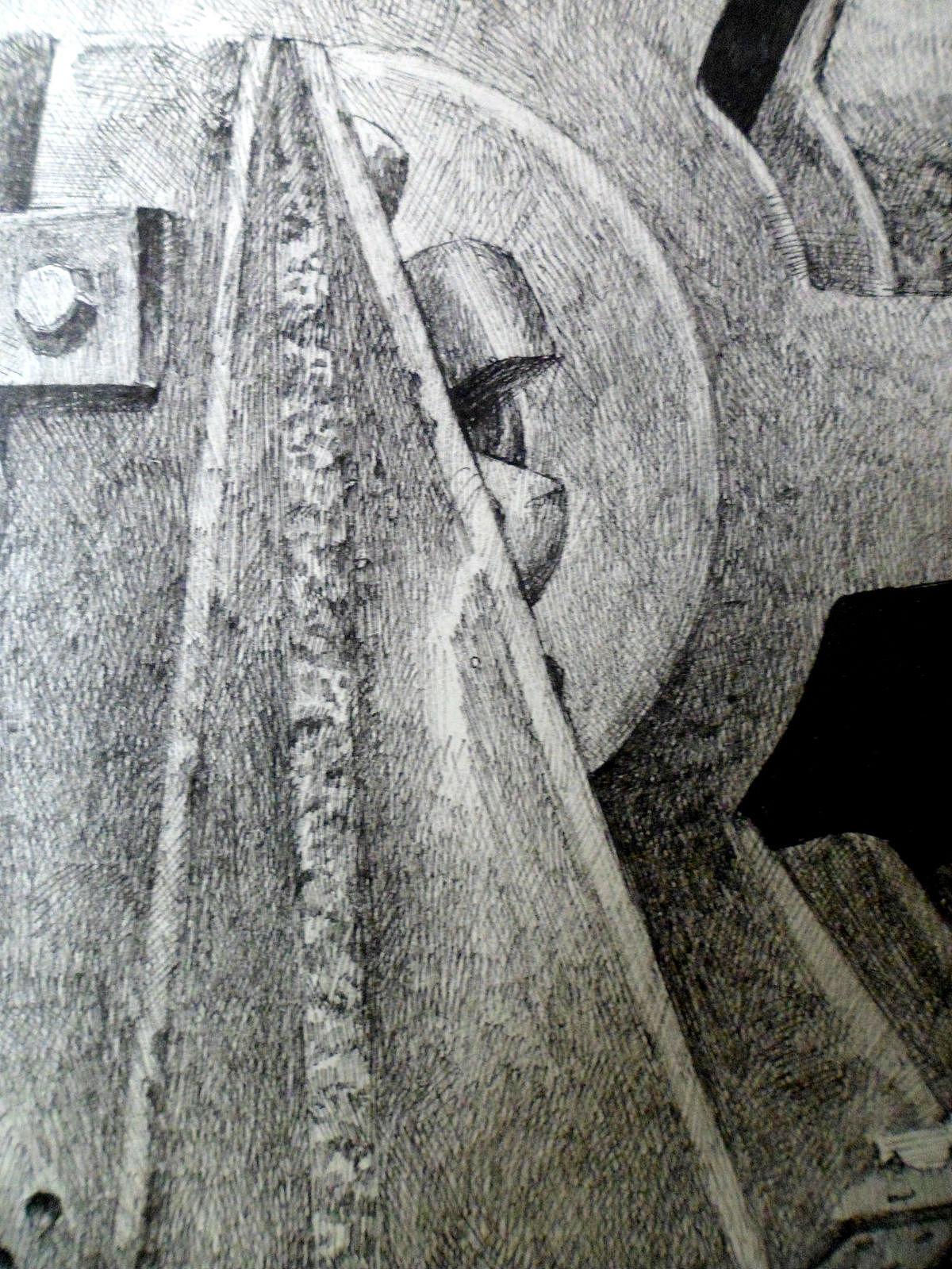 4开纸的画_钢笔画 时间齿轮|纯艺术|绘画|舒展 - 原创作品 - 站酷 (ZCOOL)