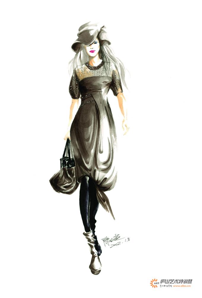 服装马克笔手绘系列——陈石英老