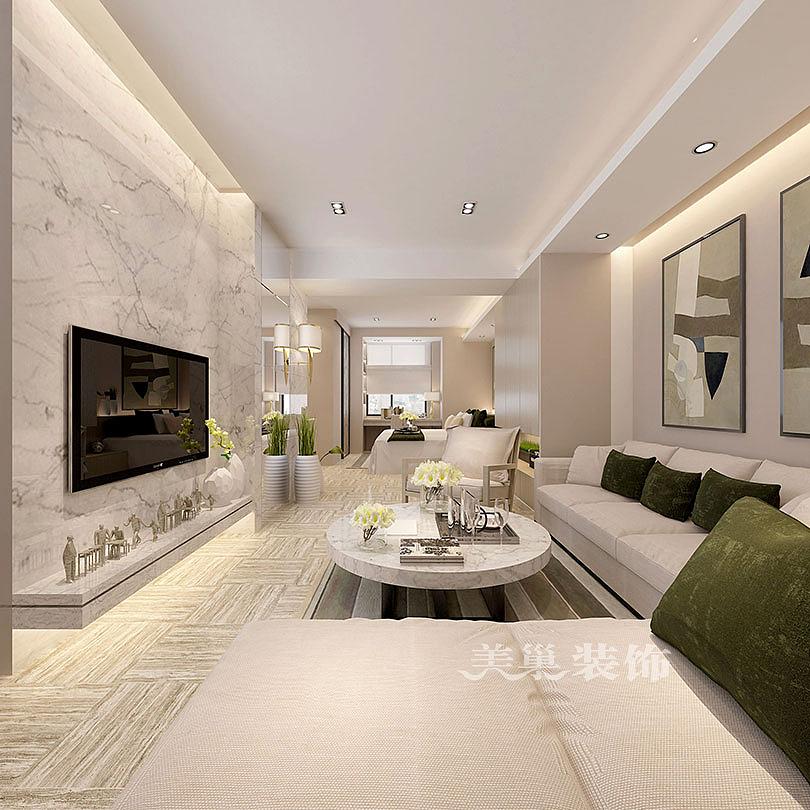 鑫苑世家50平一室一厅现代简约装修效果图——客厅