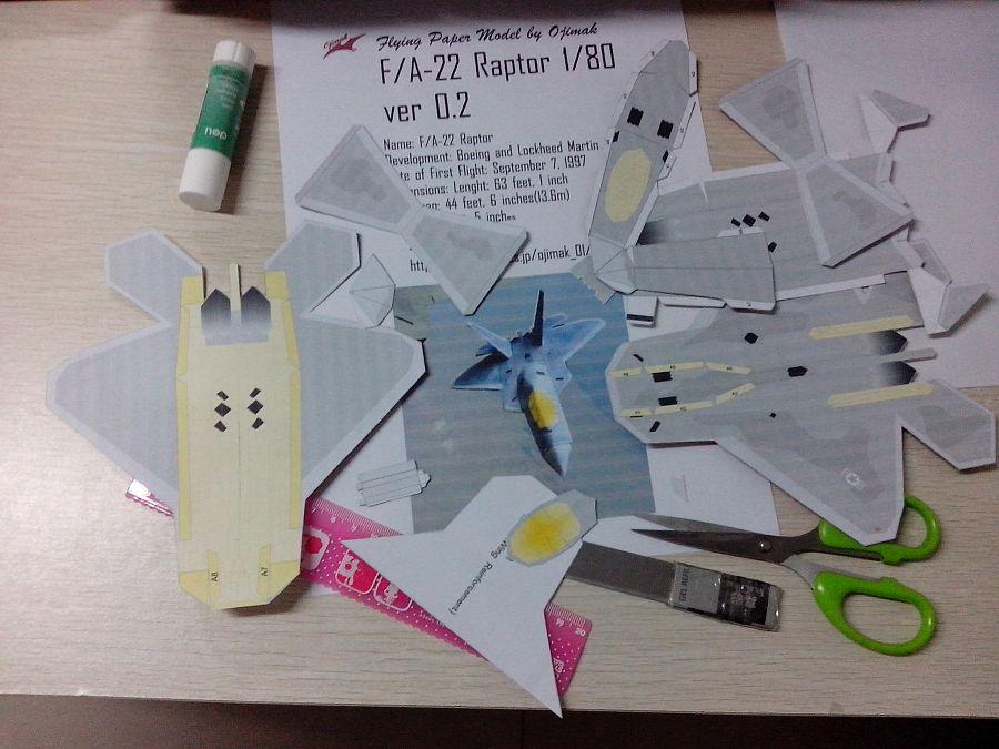 手工制作F22战斗机纸模作品|平面其他|平面|吴