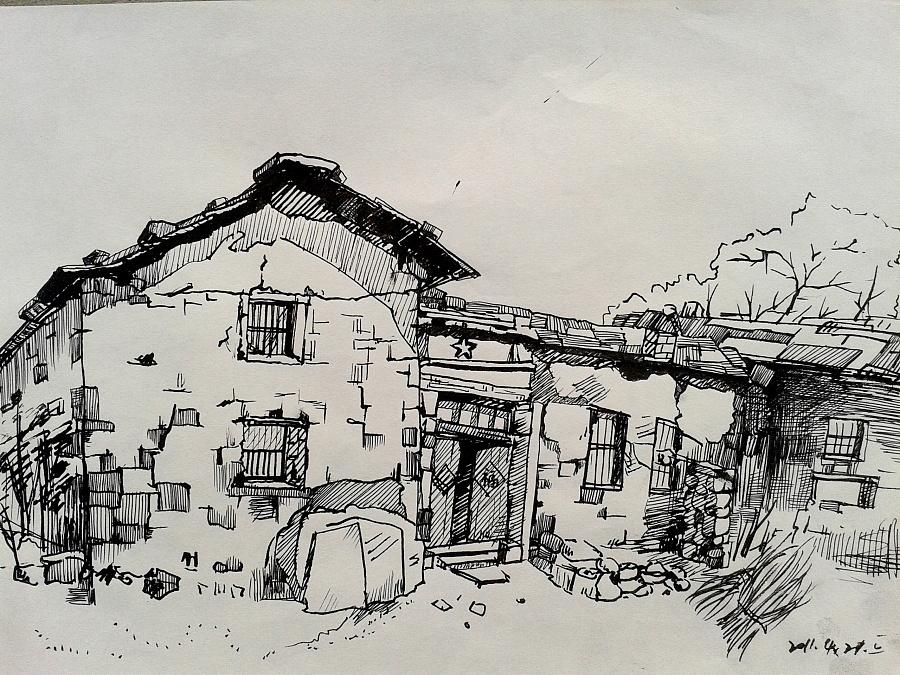 写生-老房子