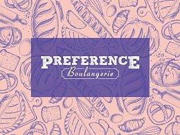 """一款面包店""""Preference""""的品牌VI设计"""