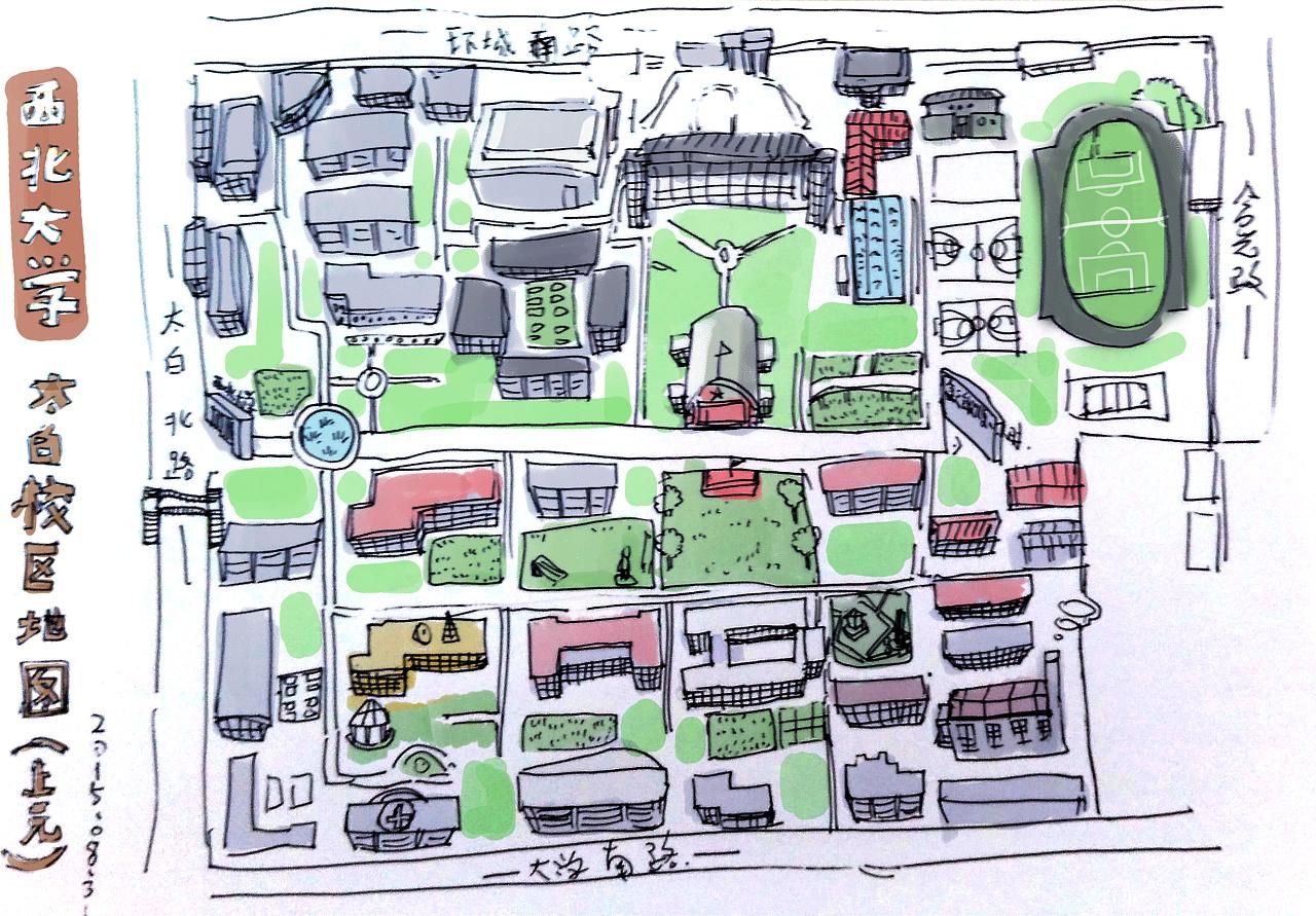 绿地 手绘平面图