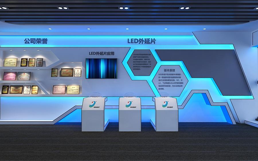 一个led企业展厅|室内设计|空间|一叶知秋设计 - 原创图片