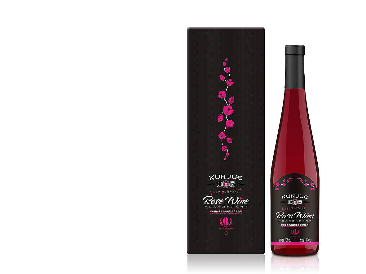坤爵品牌全案开发设计,红酒包装设计----深圳古一设计图片