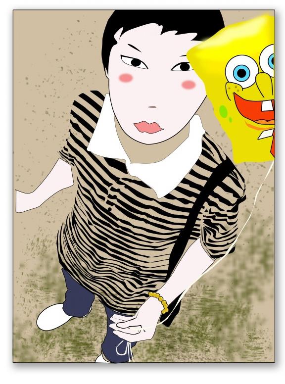 自画像神纪漫画枪四格图片