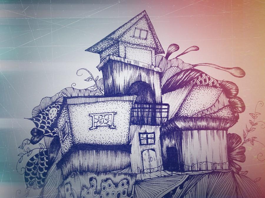 脑海里的小木屋|其他绘画|插画|史红er