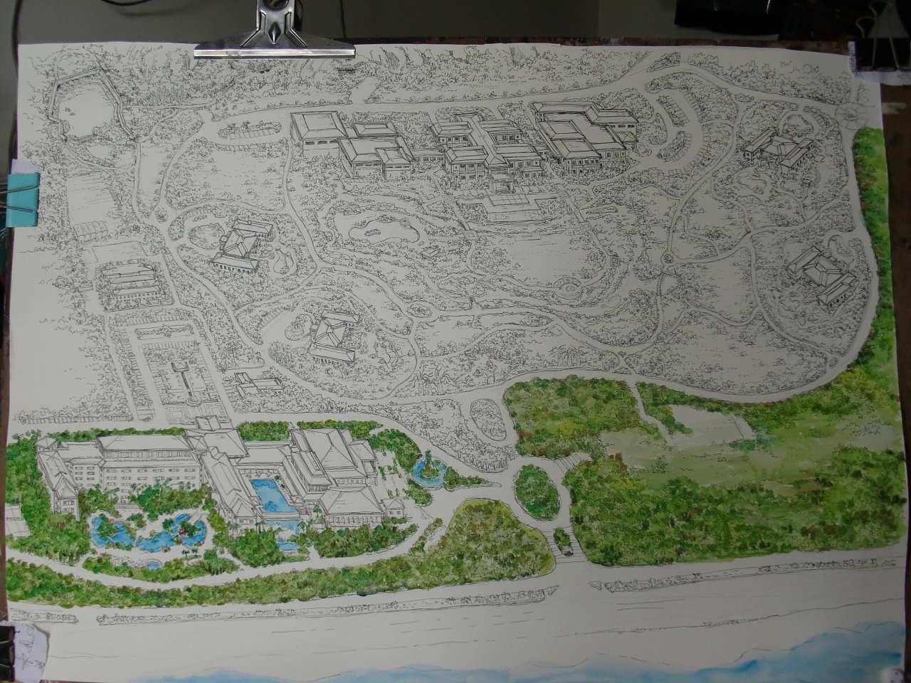 厦门海悦山庄手绘地图